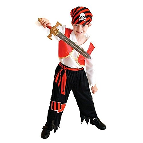 Jahre - Kostüm Verkleidung Karneval und Halloween von Pirat Korsar von dem Meere Karibik Farbe mehrfarbig männliches Kind (Meer Kostüme Ideen)
