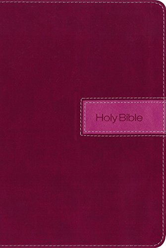 NIV, Gift Bible, Imitation Leather, Pink, Indexed, Red Letter Edition