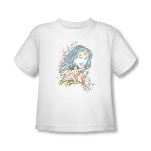 Wonder Woman - Wonder Scroll-Kleinkind-T-Shirt in Weiß, 2T, White (Wonder Kleinkind-t-shirt Woman,)