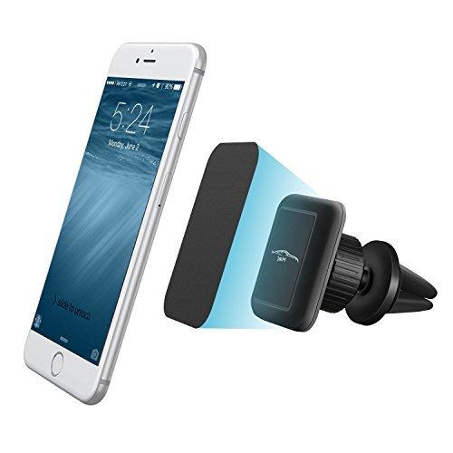 J&MFriends Handyhalterung für Lüftungsschlitze, Handy-Kfz-Halterung, Smarthphe, Kfz-Halterung mit 360 Grad drehbar, alle Telefone und GPS und mehr, Black-Black Kfz-halterung Cradle