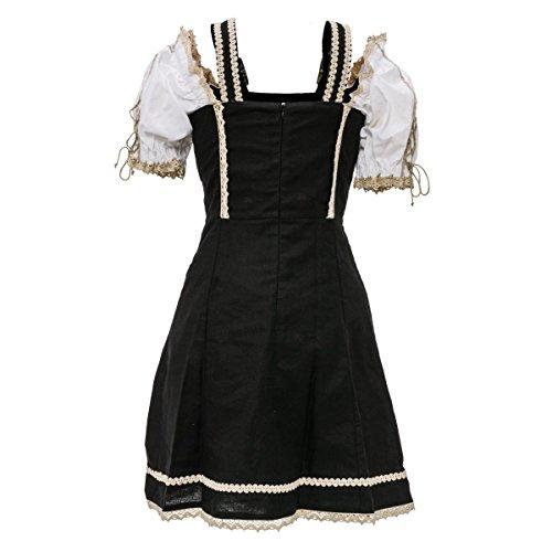 PureDay Kleid Sarafina - verstellbare Träger, Rückenteil mit Reißverschluss, gefüttert - figurbetont - Trachtenstil - Schwarz - Größe 40
