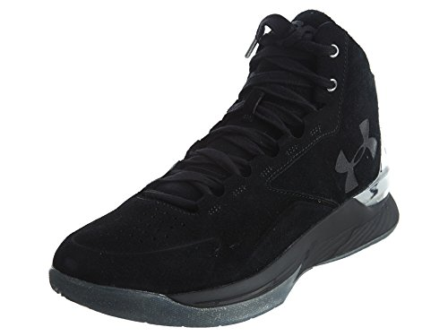Under Armour Curry 1 Lux Mid Daim Baskets black silver black 001