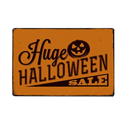 Hosaire 1x Vintage Eisen Malerei kreative Hängende Verzierung Blechschild Wandschild Plaque Wanddekoration Zubehör Halloween Dekoration Stil-3