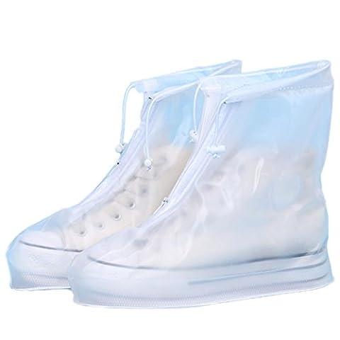 OverDose Frauen Unisex wasserdichte Regenschuhe wiederverwendbare Stiefel rutschfest Rain Shoes Slip Resistant Boots (37, (Golfschuhe Kinder 30)