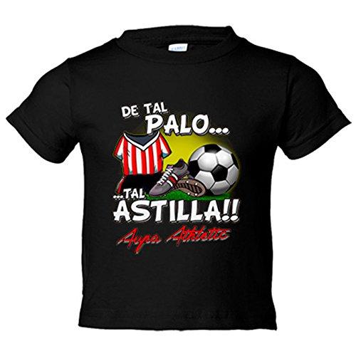 Camiseta niño De tal palo tal astilla Athletic fútbol Bilbao - Negro, 5-6 años