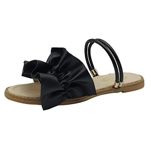 Precioul Damen Peep Toe Sandalen, Beiläufige Damenschuhe Spitze Plateau qualitativ hochwertige Bohemian Leder, Temperament wilder Stil
