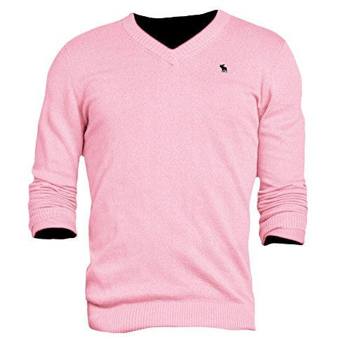 abercrombie-mens-lake-road-v-neck-sweater-jumper-sweatshirt-pullover-size-xl-pink-613270089