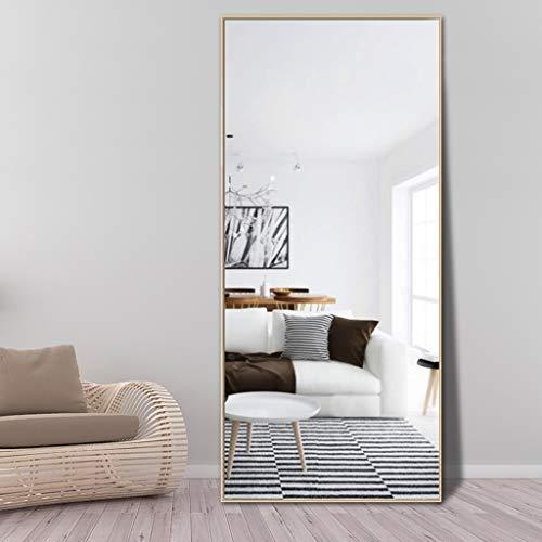 r Aluminiumlegierung in voller Länge Schlafzimmer-an der Wand befestigtes Ankleiden Bekleidungsgeschäft gegen den Wandspiegel Ganzkörperspiegel (Farbe : Gold, größe : 65 * 170cm) ()
