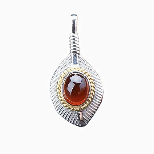 Weiduoli Natürlicher Granat Halskette Anhänger Schmuckkunst und Jade Geschenk basteln