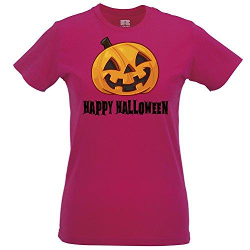 heln Gesicht Pumpking Scary lustiges Kostüm Geschenk Frauen T-Shirt (Billig Und Lustige Halloween Kostüme)