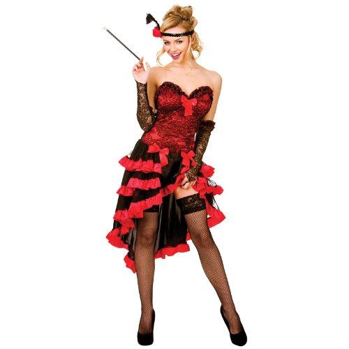 Wild West Showgirl Sexy Saloon Costume Woman Fancy Dress Medium