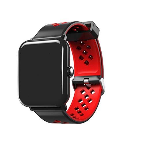 FANZIFAN Intelligente Uhr Sport smart Watch dm06 p70 männer Frauen blutdruck sauerstoff pulsmesser smartwatch für iPhone Huawei xiaomi Uhr Telefon, rot (Japanische Für Telefon Charms)