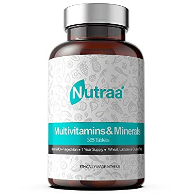 Multivitamin Tablets (365 Day Supply) Advanced Mineral Formula for Men & Women - Multi Vitamins Pills - with Iron and Vitamins A, C, D, B6 & B12 - Best Daily Mens & Womens Multivitamins Supplements by Nutraa