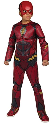 DC - Justice League Movie Kostüm Flash Premium Kinder, S (Rubies Spain 630977-s)