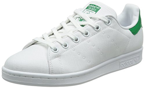 Adidas Originals Stan Smith White Textile Trainers Bianco