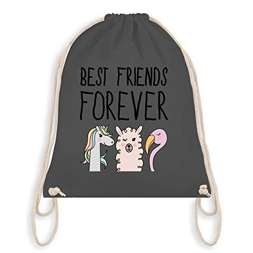 Turnbeutel - Best friends forever - Unisize - Dunkelgrau - WM110 - Turnbeutel & Gym Bag