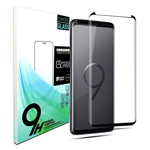 BiKail Galaxy S9 Plus Panzerglas Schutzfolie, 9H Härte/Anti-Kratzer/Hohe Qualität/Displayschutz Gehärtetem Glas Displayschutzfolie für Samsung Galaxy S9 Plus (Schwarz)