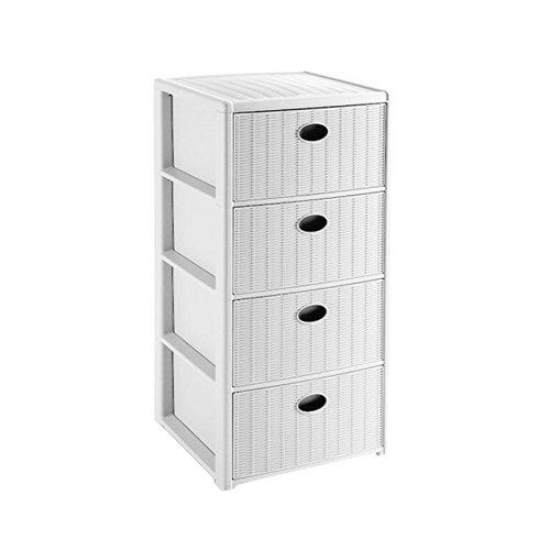 Stefanplast cassettiera elegance 4 cassetti, bianco