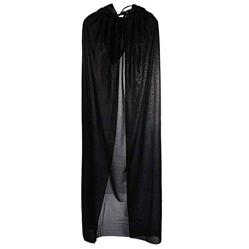 TOOGOO Morte Diavolo Wicca Robe / Vampiro Dracula Mantello con Cappuccio / Long Tippet Cape per Costumi di Halloween Cosplay Fancy Dress Prop