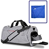 Gym Bag, Sports Duffle bags. Men, womens large holdalls with shoes compartment and wet pocket, ideal for travel, sport, fitness, training. Waterproof, lightweight, multi compartments dry wet separated
