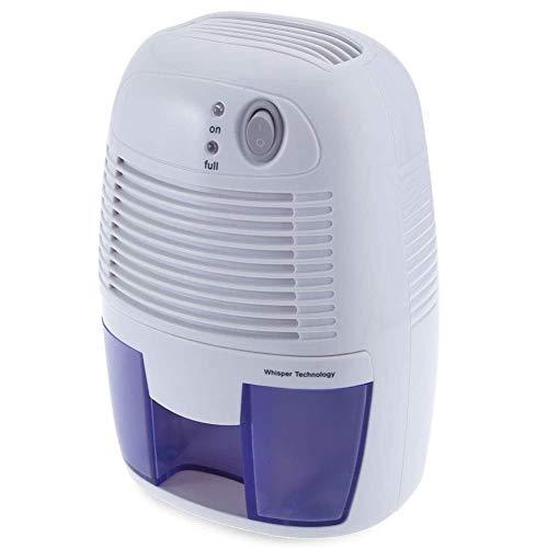 LSYOA Mini Elektrischer Luftentfeuchter, 500 ml Kapazität Tragbar Intelligenter Leise Automatikabschaltung Raumluftentfeuchter,Blue