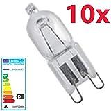 10 Stück Osram Halopin Halogen-Stiftsockellampe 230V G9 (20 Watt)