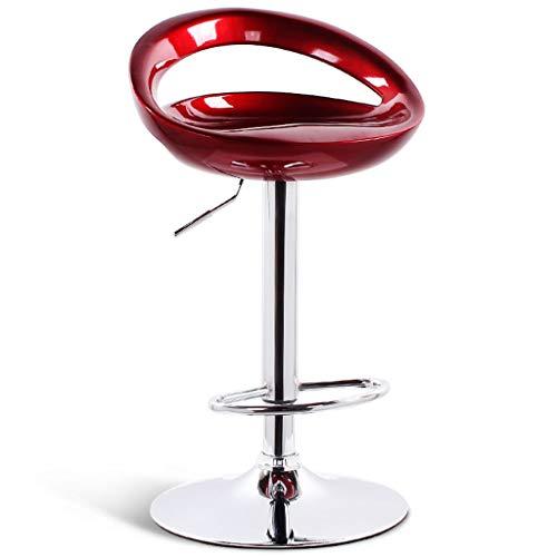 Chaises de réception Chaise de Bar Chaise Haute pour Table Cuisine de Restaurant Tabouret Haut Chaise de Maison Chaise de Bar Chaise pour Le Personnel Chaise de conférence Chaise d'ordinateur Rouge