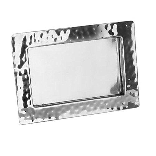 Fink 127479 Piatto Tablett aus Edelstahl, Silber, 34 x 24 x 2 cm