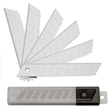 100 Abbrechklingen 18 mm 0,5 mm für Cuttermesser, Ersatzklingen, eisgehärtet