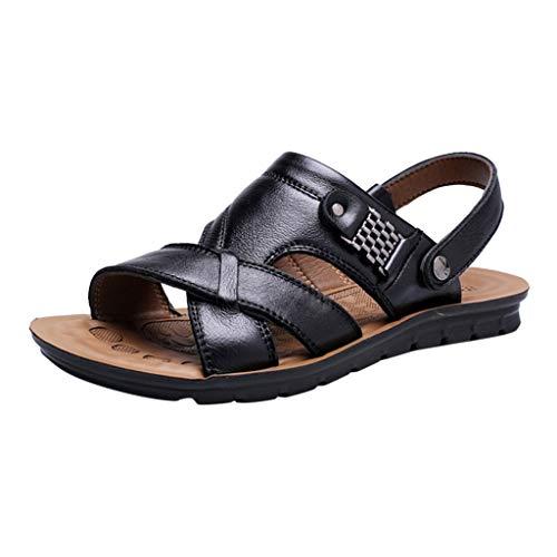 ODRD Sandalen Shoes Lässige Herrenmode Atmungsaktives Leder Strand Sandalen Schuhe Slides Outdoor Hausschuhe Schuhe Strandschuhe Freizeitschuhe Turnschuhe ()