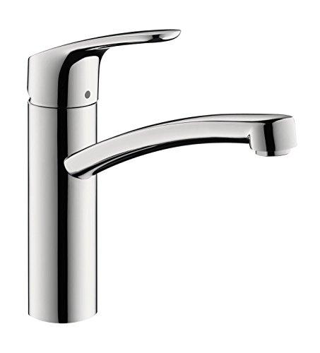 Einhandmischer Focus E² für Küchenspüle | Hansgrohe | 31806 800 | Schwenkbarer Auslauf 360° | Chrom | Wasserhahn   Spüle