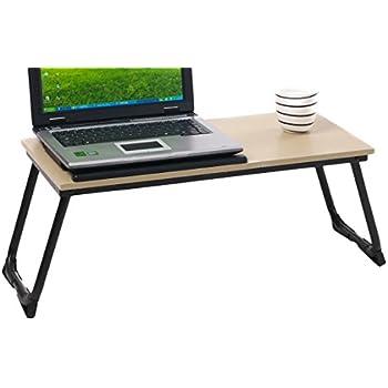 Table d'Ordinateur pour Lit Coavas Support Ajustable pour Ordinateur 14-17 pouces avec Surface pour Ordinateur Inclinaison à 4 Niveaux et Surface pour Souris ou Mug – Crème