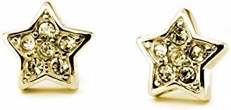 2 imán de oro de la estrella de espárragos, con muchos cristales No tema:. 196P-g