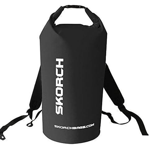 Skorch Sac à dos étanche de plage avec bretelles - confortable, rembourré - Pour kayak, paddle, camping, voile, ski - Noir, noir, 40L Backpack