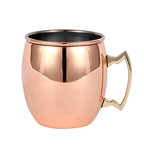 Upper-Beer cup, stainless steel cocktail cup, copper plated beer cup,Mirror
