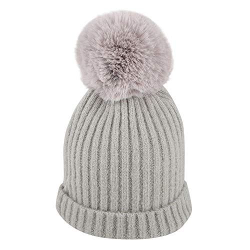 e1e8ed297cf1b8 Mitlfuny Boys Girls Baby Hats Unisex Detachable Big Hair Ball Knitted Cap  Winter Warm Thick Newborn