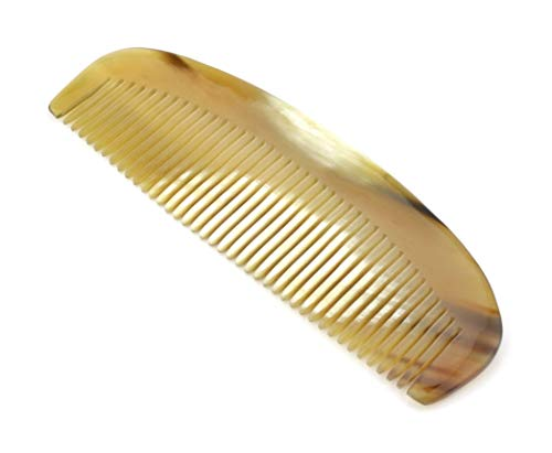 Peigne classique intemporel en corne naturelle