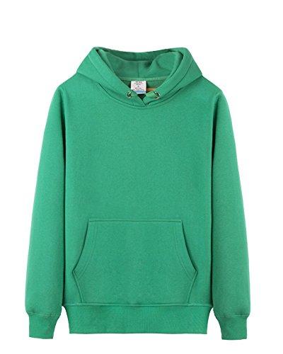 LaoZan Sweat-shirt à capuche / Sweat à capuche - Manches longues - Unisex Vert