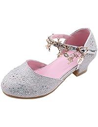 780ec151a Zapatillas niña LANSKIRT Sandalias de Vestir para niña de Lentejuelas de  Cristal para niñas pequeñas bebés