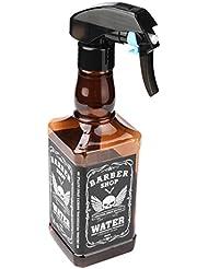 Friseur Sprühflasche OHQ 500ML Friseur Spray Flaschen Salon Friseur Haar Werkzeug Wasser Sprüher (Braun)