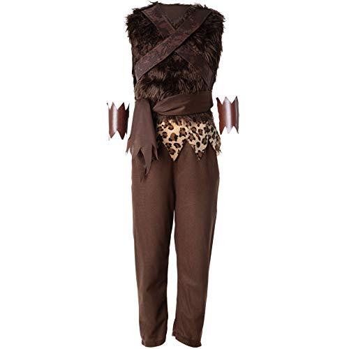 dressforfun 900571 - Costume da Bambino Selvaggio Giovane Cavernicolo, Pantaloni Marroni e Giubbetto Smanicato (152| No. 302747)