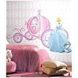 Himani Decors Beautiful Disney Princess Cinderella Cartoon PVC Vinyl Wall Sticker For Kids Room, Baby Room,
