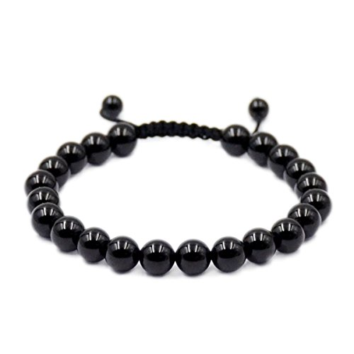 Imagen de ad beads  pulseras de piedra preciosa natural, poder de curación, de 8 mm, cristal de macramé, ajustable de 18 a 23 cm
