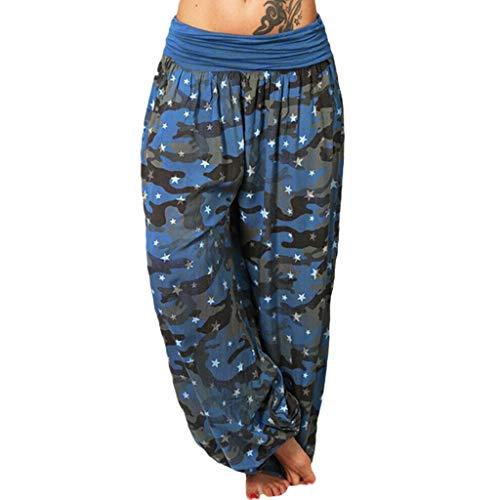 Ulanda-EU Yoga Leggings Damen Print Aladin Sommerhose Pluderhose Harem-Stil Gemustert 6 3/4 Zoll Sexy