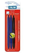 Milan P1 Touch - Blíster con 4 bolígrafos, multicolor