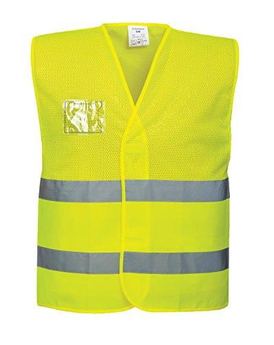 Portwest Sicherheitsweste aus Mesh-Gewebe, normale Passform, hohe Sichtbarkeit, Small/Medium, gelb, 1 (Mesh-karte)