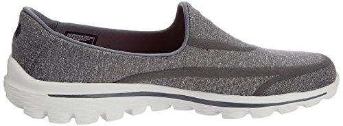 Skechers Damen Go Walk 2Super Sock Sneakers Grau (Char)
