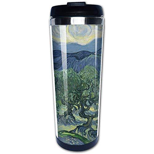 Like-like Olivenbaum-Edelstahl-Wasser-Schalen-Reise-Kaffeetasse für den Sport, der das Wandern radfährt