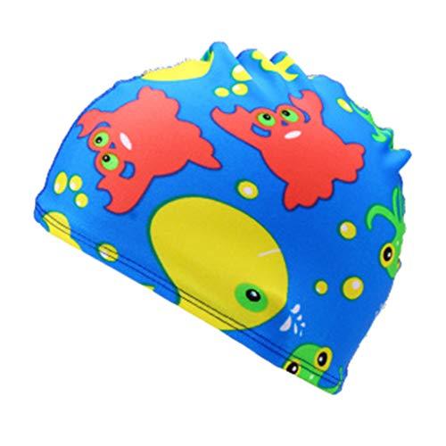 Zegeey Unisex Baby Kinder Cartoon BademüTze Caps HüTe MüTze Beach Hut Badekappe Sport Hut(J-Mehrfarbig)
