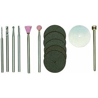 Proxxon 28910 Werkzeugsatz für Modellbauer 13-teilig, Silber/grün / rosa/weiß / dunkelgrau